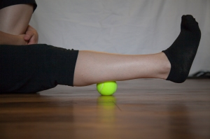 Tennis Ball Calf Self Massage