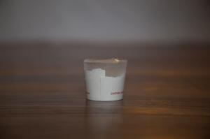 Homemade ice massage cup