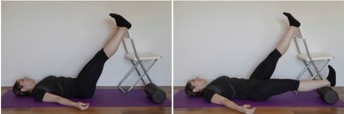 Supported Single Leg Lower to Bolster