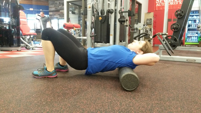 Foam Roll Thoracic Roll Finish